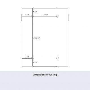 HMF 63309-07 Serverschrank 10 Zoll, 9 HE, Netzwerkschrank, 31, 2 x 30 x 48, 3 cm, lichtgrau - Vorschau 5