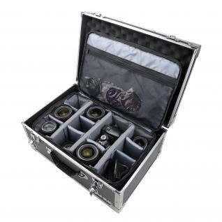 HMF 18440 Fotokoffer, Kamera Transportkoffer inkl. Tasche mit individuellen Trennwänden, 48 x 32 x 22, 5 cm