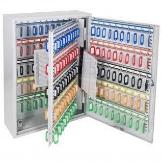 HMF 135200-07 Schlüsselschrank 200 Haken, 55 x 38 x 14 cm, lichtgrau