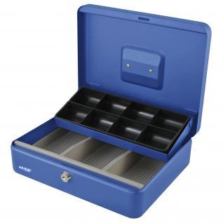 HMF 15130-05 Geldkassette Marktkassette, 8 Münzfächer, 3 Scheinfächer, 30 x 24 x 9 cm, blau