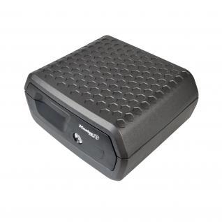 Master Lock LCFW30100 Feuerfeste Dokumentenkassette, DIN A4, Größe L, 39, 5 x 37, 5 x 19, 3 cm, anthrazit
