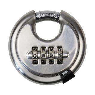 HMF 3502-09 Vorhängeschloss, Rundschloss, 4er Zahlenkombination, 7 x 7 x 2, 4 cm