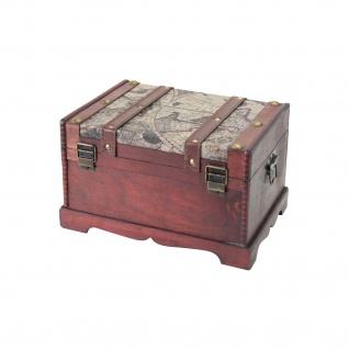 HMF 6408-129 Schatztruhe Schatzkiste, Holzkiste Amerika, 29 x 20 x 17 cm - Vorschau 3