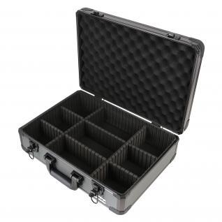 HMF 14502-02 Alu Aufbewahrungskoffer, Universalkoffer, verstellbare Facheinteilung, 46 x 15 x 33 cm