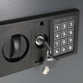 HMF 2071-11 Schlüsseltresor 71 Haken, Schlüsselschrank, Safe, Elektronikschloss, 46 x 36 x 12 cm, anthrazit - Vorschau 5