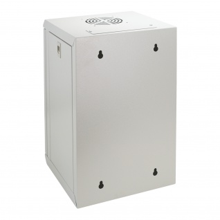 HMF 63309-07 Serverschrank 10 Zoll, 9 HE, Netzwerkschrank, 31, 2 x 30 x 48, 3 cm, lichtgrau - Vorschau 3