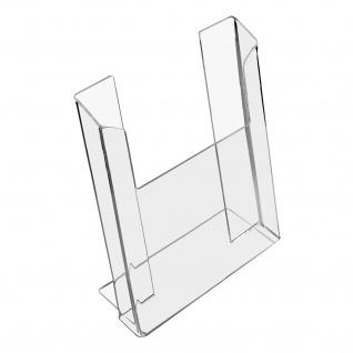 HMF 46962 Prospektständer, Prospekthalter DIN A4 Acryl, 22 x 29, 5 x 11 cm