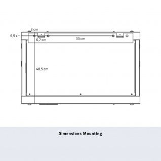 HMF 66609-07 Serverschrank 19 Zoll, 9 HE, Netzwerkschrank, 60 x 60 x 50 cm, lichtgrau - Vorschau 5