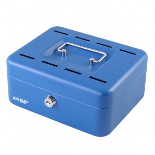 HMF 3088-05 Geldkassette 8 Sparfächer, 20 x 15 x 8, 5 cm, blau