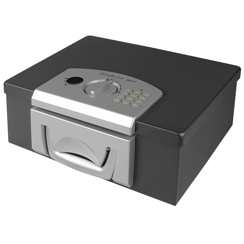 schwarz 13,5 x 11,0 x 8,0 cm HMF 306-02 Minitresor Zahlenkombinationsschloss
