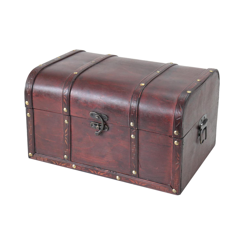 Hmf 6406 135 Schatztruhe Schatzkiste Holzkiste Portugal 35 X 25 X
