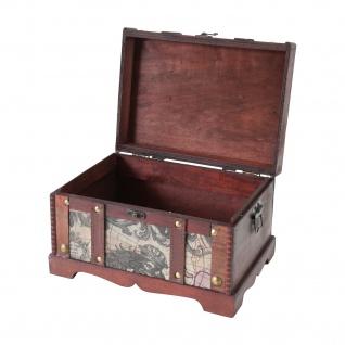 HMF 6408-129 Schatztruhe Schatzkiste, Holzkiste Amerika, 29 x 20 x 17 cm - Vorschau 2