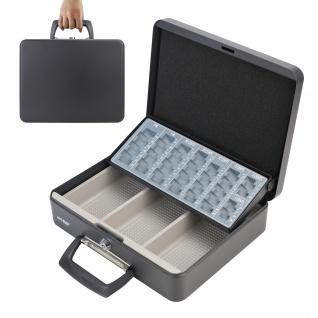 HMF 10016-02 Geldkassette Tragegriff, 30 x 24 x 9 cm, schwarz