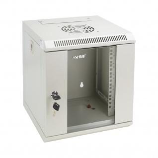HMF 63306-07 Serverschrank 10 Zoll, 6 HE, Netzwerkschrank, 31, 2 x 30 x 35 cm, lichtgrau