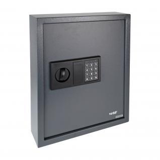 HMF 2071-11 Schlüsseltresor 71 Haken, Schlüsselschrank, Safe, Elektronikschloss, 46 x 36 x 12 cm, anthrazit - Vorschau 2
