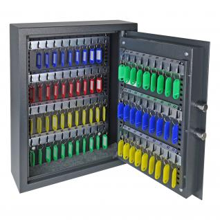 HMF 2071-11 Schlüsseltresor 71 Haken, Schlüsselschrank, Safe, Elektronikschloss, 46 x 36 x 12 cm, anthrazit - Vorschau 3