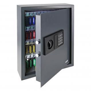 HMF 2071-11 Schlüsseltresor 71 Haken, Schlüsselschrank, Safe, Elektronikschloss, 46 x 36 x 12 cm, anthrazit