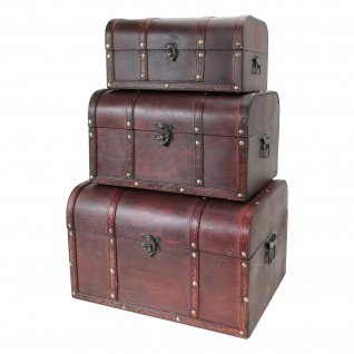HMF 6406700 Schatztruhe Schatzkiste, Holzkiste Portugal, 3er Set