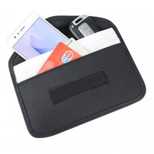 HMF 3405-02 RFID XL Schutztasche Smartphone Autoschlüssel, Abschirmung, 19 x 10, 5 x 1, 5 cm