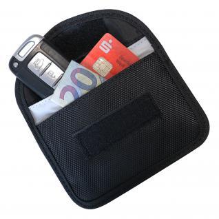 HMF 3402-02 RFID Schutztasche Autoschlüssel, Abschirmung Keyless-Go, RFID Blocker, 8, 5 x 13 x 1, 2 cm