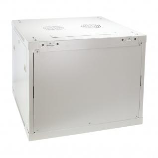 HMF 66609-07 Serverschrank 19 Zoll, 9 HE, Netzwerkschrank, 60 x 60 x 50 cm, lichtgrau - Vorschau 3