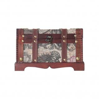 HMF 6408-129 Schatztruhe Schatzkiste, Holzkiste Amerika, 29 x 20 x 17 cm - Vorschau 4