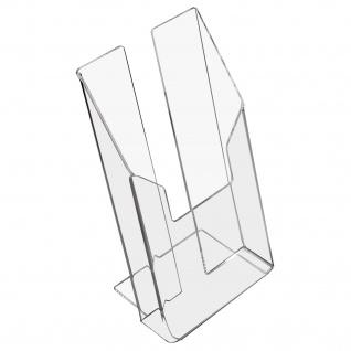 HMF 46960 Prospektständer, Prospekthalter DIN A6 Acryl, 11 x 19, 5 x 9 cm