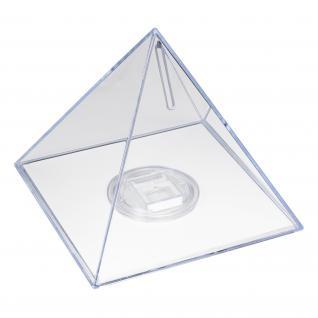 HMF 47600 Spardose Pyramide Acryl, 13 x 12 cm