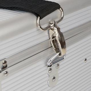 HMF 14702-09 Medizinkoffer, Erste Hilfe Koffer, Aluminium, Arzneikoffer, 30 x 25 x 25 cm, silber - Vorschau 5