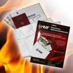 HMF 44141 Feuerfeste Dokumententasche DIN A4, 38, 5 x 26 cm