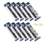 HMF 3610-02, 10er Set Geldscheinprüfstift, Geldschein Schnelltester, 2 in 1, inkl. Kugelschreiber