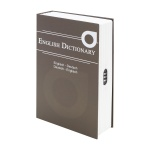 HMF 319-19 Buchtresor English Dictionary, Geldversteck, Zahlenschloss, 23, 5 x 15, 5 x 5, 5 cm, Braun
