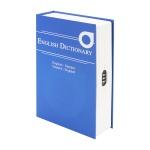 HMF 319-05 Buchtresor English Dictionary, Geldversteck, Zahlenschloss, 23, 5 x 15, 5 x 5, 5 cm, Blau