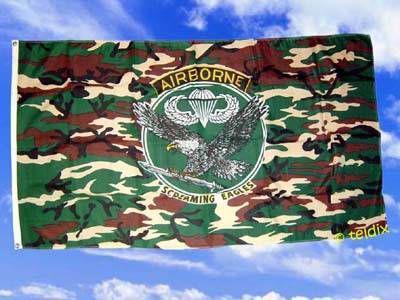 Flagge Fahne USA AIRBORNE GRÜN 150 x 90 cm