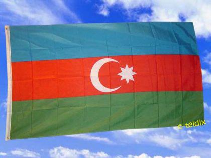 Flagge Fahne ASERBAIDSCHAN 150 x 90 cm