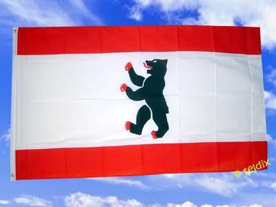 Flagge Fahne BERLIN OHNE KRONE 150 x 90 cm