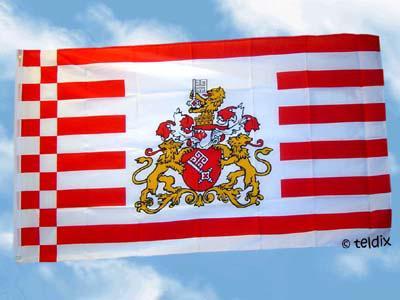 Flagge Fahne BREMEN GROSSES WAPPEN 150 x 90 cm