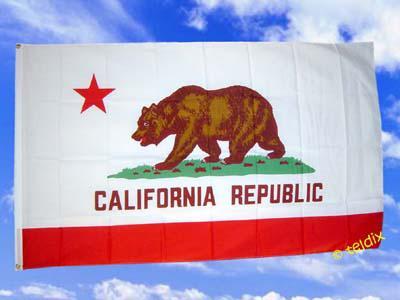 Flagge Fahne CALIFORNIEN 150 x 90 cm