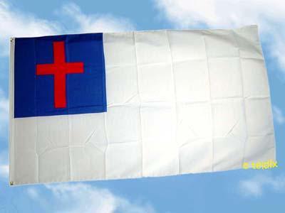 Flagge Fahne CHRISTENFLAGGE 150 x 90 cm
