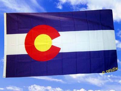 Flagge Fahne COLORADO 150 x 90 cm