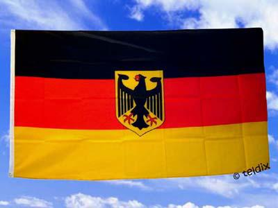 Flagge Fahne DEUTSCHLAND MIT ADLER 150 x 90 cm - Vorschau