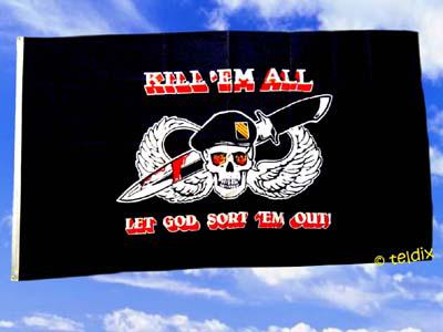Flagge Fahne KILL` EM ALL 150 x 90 cm