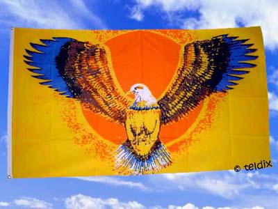 Flagge Fahne FLYING EAGLE 150 x 90 cm