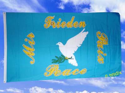 Flagge Fahne FRIEDENSTAUBE 150 x 90 cm