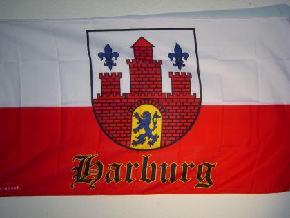 Flagge Fahne HARBURG MIT WAPPEN 150 x 90 cm