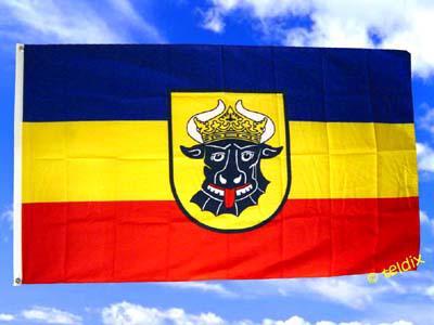 Flagge Fahne Mecklenburg Ochsenkopf 150 X 90 Cm - Vorschau