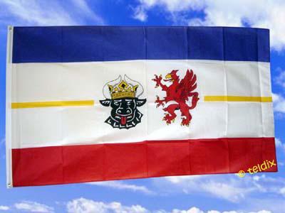 Flagge Fahne MECKLENBURG VORPOMMERN 150 x 90 cm
