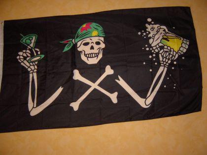 Flagge Fahne PIRAT MIT BIER 150 x 90 cm