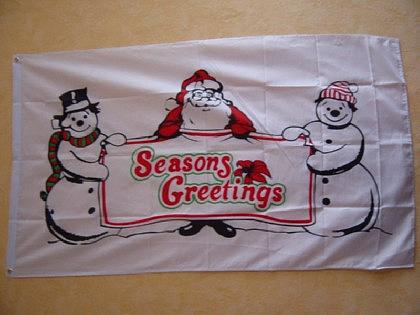 Flagge Fahne SEASONS GREETING 150 x 90 cm