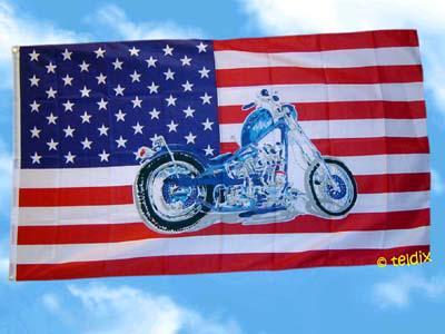 Flagge Fahne USA MOTORRAD 150 x 90 cm